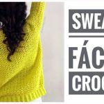 Suéter fácil tejido a crochet