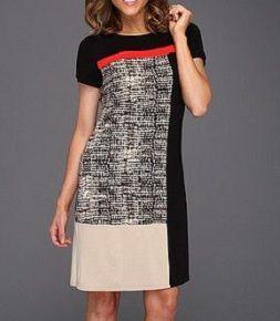 Vestido de tubo estilo patchwork