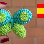 Mariposa a crochet amigurumi