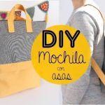 DIY Tutorial mochila con bolsillo y asas