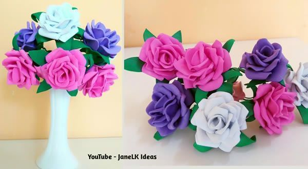 DIY Ramo de rosas de goma eva