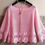DIY Blusa amor primavera tejida a crochet