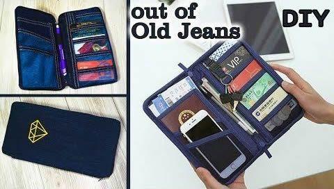 Bolso monedero Jean reciclado