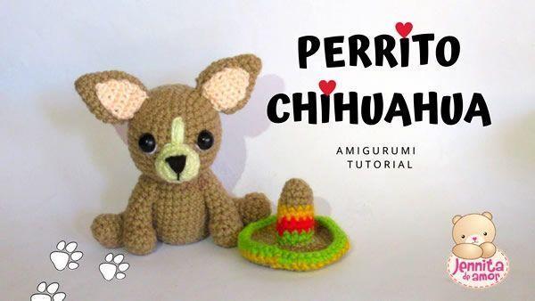 DIY Perrito chihuahua amigurumi con patrón
