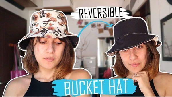 Bucket hat o sombrero de pescador reversible
