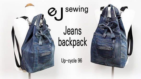 DIY Bolsa mochila jeans
