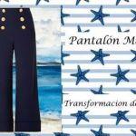 Pantalón marinero para mujer