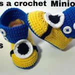 Botitas de bebe tejidas a crochet Minions