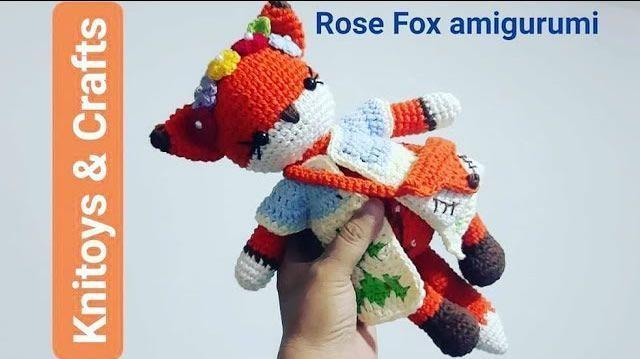 DIY Muñeca Rose fox tejida a crochet amigurumi