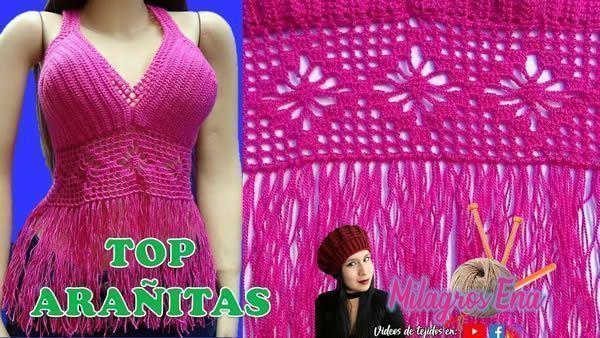 DIY Top con flecos tejido a crochet