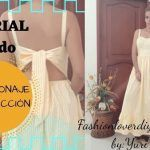 DIY Patrón y confección de vestido con lazo en espalda