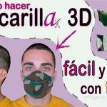 DIY Mascarilla camuflaje 3D con filtro