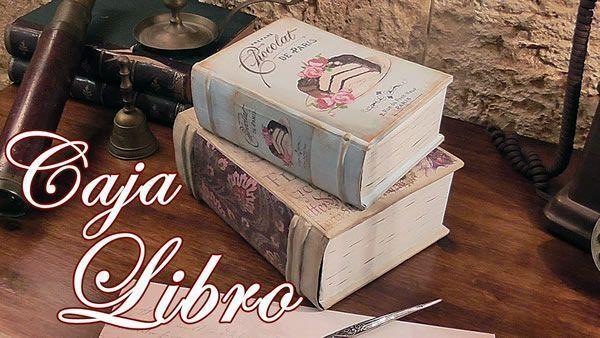 DIY Caja libro vintage reciclando cartón