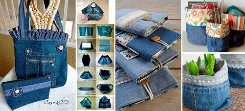 Ideas para reciclar pantalones vaqueros o Jeans