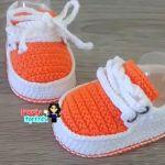 DIY Zapatos a crochet para bebé