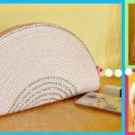 DIY Cartera Bolso de mano con mantel