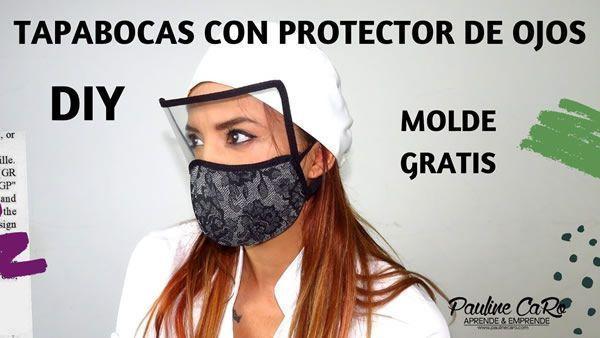 Protector Facial con mascarilla o tapabocas