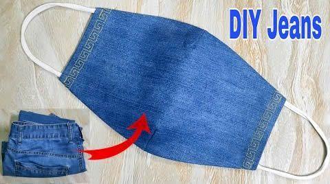 DIY Mascarilla jeans vaquera con filtro