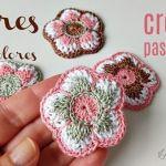 DIY Flor multicolor tejida a crochet