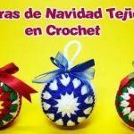 Esferas de navidad tejidas a crochet