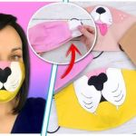 DIY Mascarilla de tela con filtro personalizada
