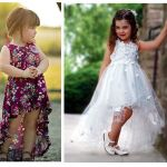 Vestido para niñas mullet con patrón