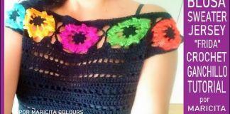 Blusa Frida a Crochet