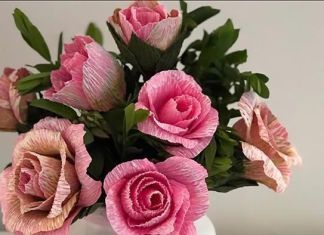 Rosas de papel diy paso a paso