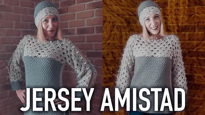 Jersey tejido a crochet