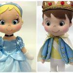 Princesa y príncipe muñecos de fieltro