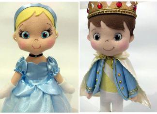 Príncipes muñecos fieltro