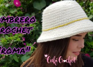 Sombrero a crochet modelo Roma