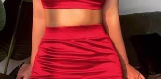 Conjunto Top y mini Falda con patrones gratis