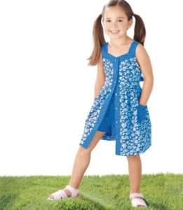 Vestido verano para niña con patrones gratis
