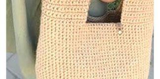 Bolso crochet para compra con asas cuadradas tutorial paso a paso