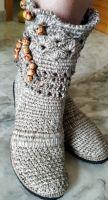 DIY Bota rustica tejido a crochet paso a paso