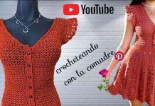 DIY Vestido tejido a crochet para Primavera Verano