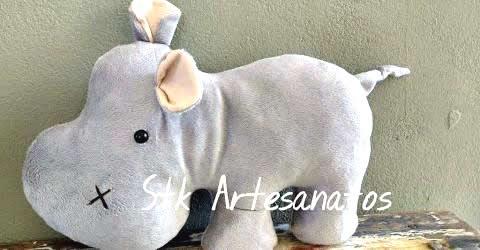 DIY Hipopótamo Cojín o Almohada con Moldes