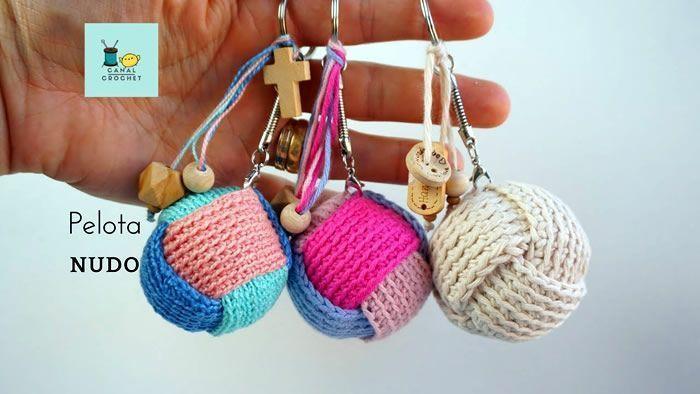 DIY Pelota nudo a crochet paso a paso