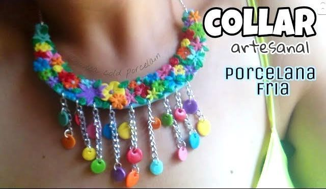 DIY Collar artesanal de porcelana fría