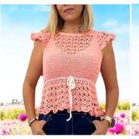 DIY Blusa a crochet modelo Ternura