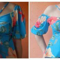Blusa con fruncido en el pecho patrón y confección