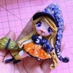 Muñeca Brujita en porcelana fría o pasta flexible