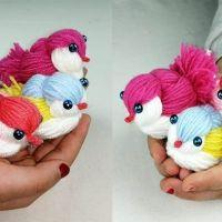 DIY Pájaros con lana muy fácil paso a paso