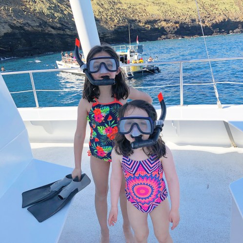Snorkeling at Molokini Crater in Maui Hawaii #snorkel #hawaii #maui #molokinicrater #travelfamily