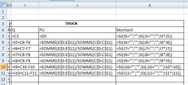 fiche de stock CMPU+SI formules stock