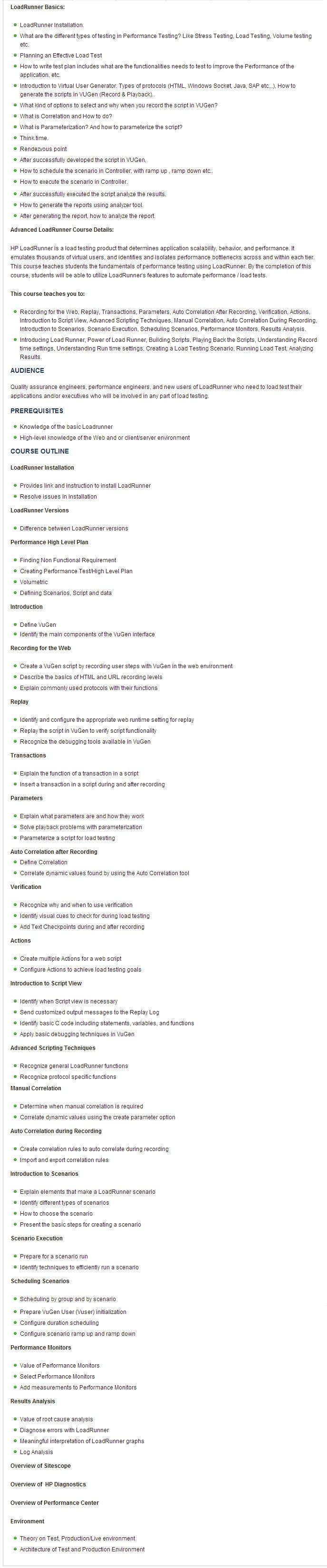 loadrunner-course-syllabus