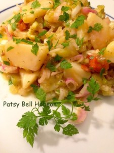Chervil on potato salad