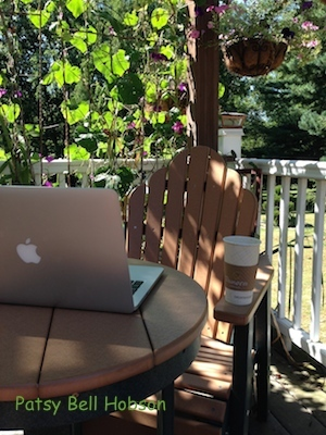 Gardening and writing about gardening are always best done outside.
