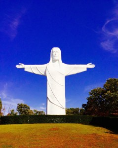 Christ of the Ozarks statue spotting is fun year round.